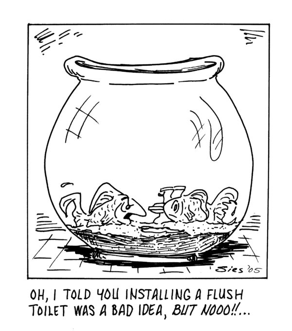 How would he use the plunger, anyway?